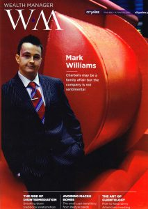 Mark Williams CityWire Wealth Magazine cover photo